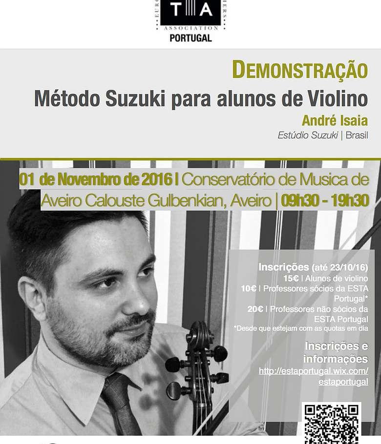 Demonstração: Método Suzuki para alunos de violino Por André Isaia