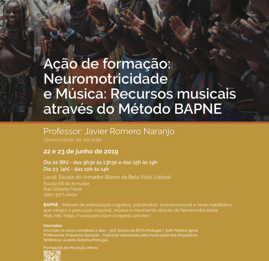 Ação de Formação: Neuromotricidade e Música: Recursos musicais através do Método BAPNE